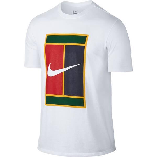 NIKE Herren Tennisshirt Kurzarm | Sportbekleidung > Sportshirts > Tennisshirts | White | NIKE