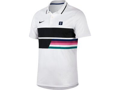 NIKE Herren Tennis-Poloshirt Kurzarm Grau