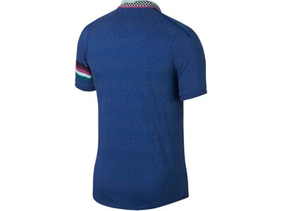 "NIKE Herren Poloshirt ""Court Advantage"" Slim Fit Kurzarm Blau"
