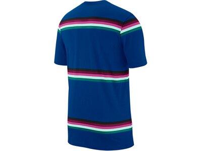 NIKE Herren Shirt M NKCT TEE HERITAGE STRIPE Blau