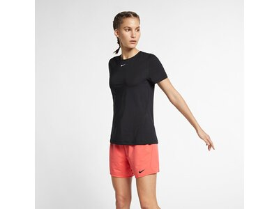 NIKE Damen T-Shirt Slim Fit Schwarz