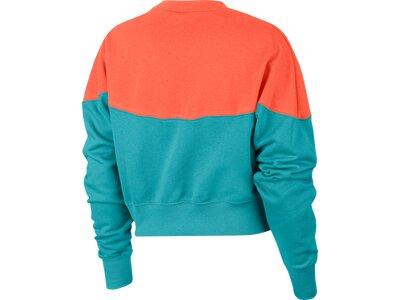 NIKE Lifestyle - Textilien - Sweatshirts Heritage Crop Top Sweatshirt Damen Beige Blau