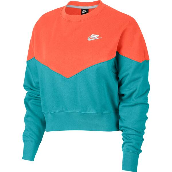 NIKE Damen Sweatshirt W NSW HRTG CREW FLC