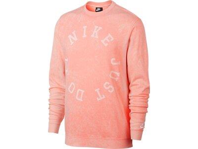 NIKE Herren Sweatshirt NSW CE CRW FT WASH Pink