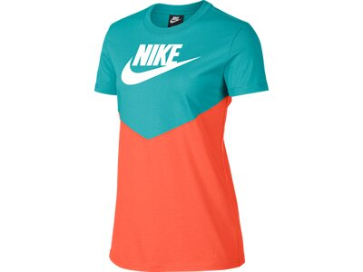 NIKE Damen NSW HRTG TOP SS Blau