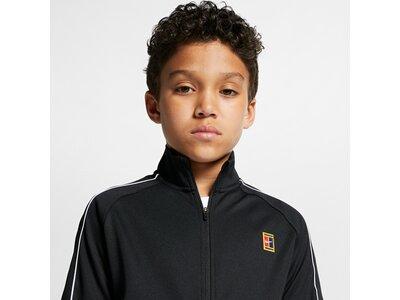 NIKE Kinder Tennis Warm-Up Jacke YOUTH NKCT WARM UP JACKET Schwarz
