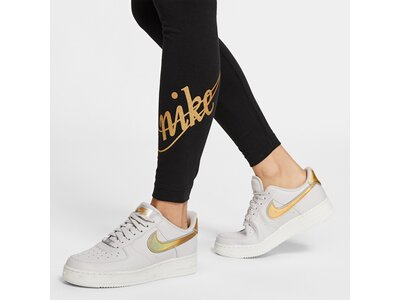 NIKE Damen Tight GLITTER Schwarz