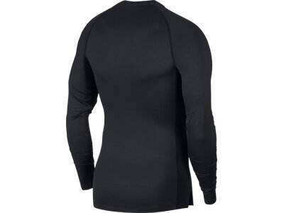 NIKE Herren Langarmshirt TOP TIGHT Schwarz