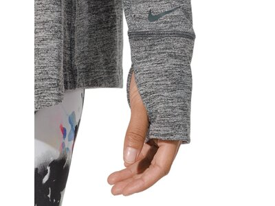 NIKE Damen Sweatshirt YOGA COLLECTION CU Grau