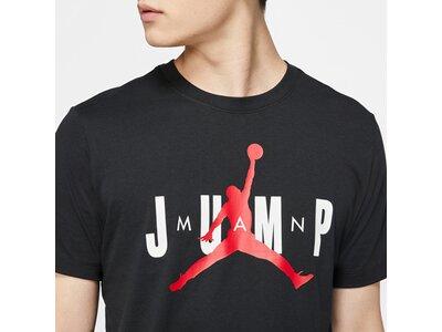 NIKE Herren Shirt J CTN SS JUMP CREW Schwarz