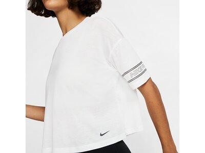 NIKE Damen Trainingsshirt Kurzarm Schwarz