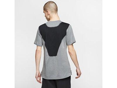 "NIKE Herren Trainingsshirt ""Breathe Mens Short-Sleeve Top"" Grau"
