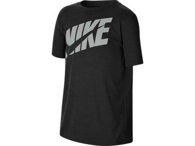 NIKE Jungen Fitness-Shirt Kurzarm Schwarz