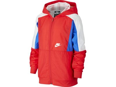 NIKE Kinder Sweatshirt NSW WOVEN FZ Rot