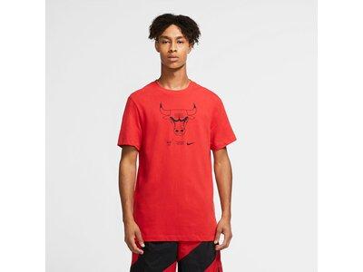 """NIKE Herren Basketball T-Shirt """"NBA Bull Logo"""" Rot"""