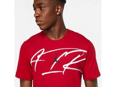 NIKE Herren Shirt M J SCRIPT AIR DFCT SS CREW Rot