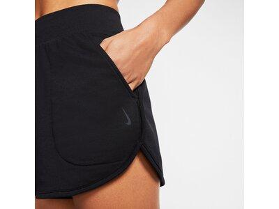 NIKE Damen Shorts Yoga Schwarz