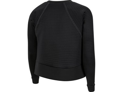 NIKE Damen Sweatshirt LUX CLN DRY FLEECE CREW Schwarz