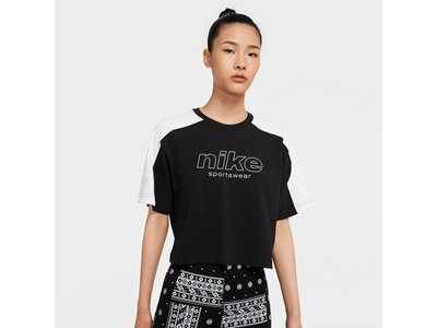 NIKE Damen Shirt W NSW TOP SS ARCHIVE RMX Schwarz
