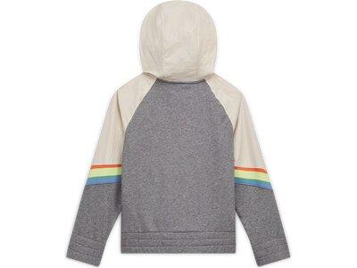 NIKE Kinder Sweatshirt G NSW HERITAGE FZ HOODIE Grau