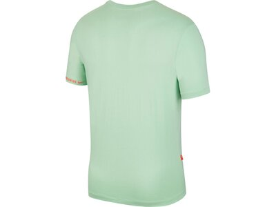 NIKE Herren Shirt M NSW SS TEE SWOOSH WORLDWIDE Silber