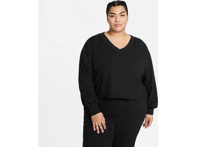 """NIKE Damen Yoga Shirt Langarm """"Off-Mat Fleece"""" Weiß"""