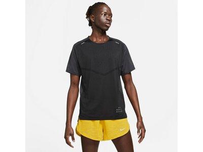 NIKE Herren T-Shirt Rise 365 Run Division Schwarz