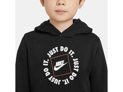 NIKE Jungen Sweatshirt mit Kapuze Schwarz