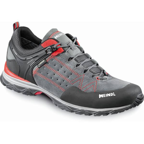 MEINDL Herren Leichtwanderschuhe Ontario Men GTX | Schuhe > Outdoorschuhe > Wanderschuhe | Anthrazit - Rot | Leder | MEINDL