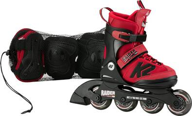 K2 Kinder Skates RAIDER PRO PACK red