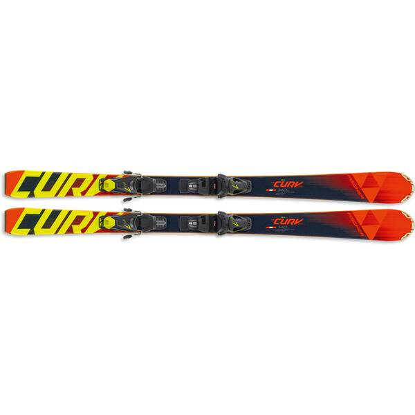 FISCHER Kinder Racing Ski RC4 THE CURV PRO SLR + FJ7 AC