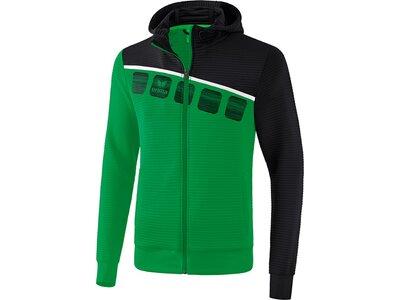 ERIMA Trainingsjacke mit Kapuze 5-C Grün