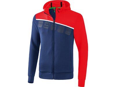 ERIMA Trainingsjacke mit Kapuze 5-C Blau