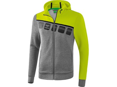 ERIMA Trainingsjacke mit Kapuze 5-C Grau
