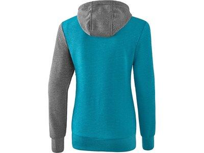 ERIMA Damen 5-C Trainingsjacke mit Kapuze Blau