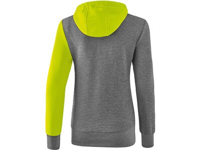 ERIMA Damen Trainingsjacke mit Kapuze 5-C Grau
