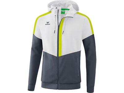 ERIMA Herren Squad Tracktop Jacke mit Kapuze Weiß