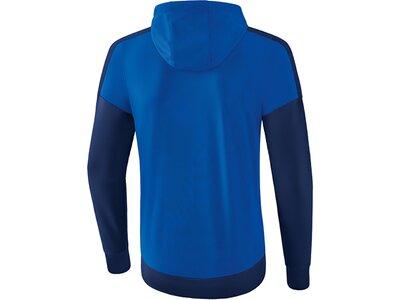 ERIMA Herren Squad Trainingsjacke mit Kapuze Blau