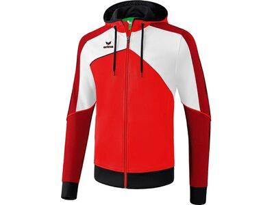 ERIMA Herren Premium One 2.0 Trainingsjacke mit Kapuze Rot
