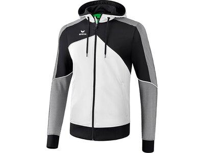 ERIMA Kinder Premium One 2.0 Trainingsjacke mit Kapuze Weiß