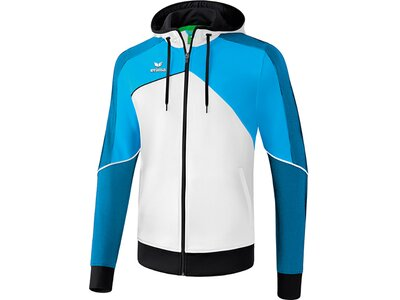 ERIMA Herren Premium One 2.0 Trainingsjacke mit Kapuze Weiß