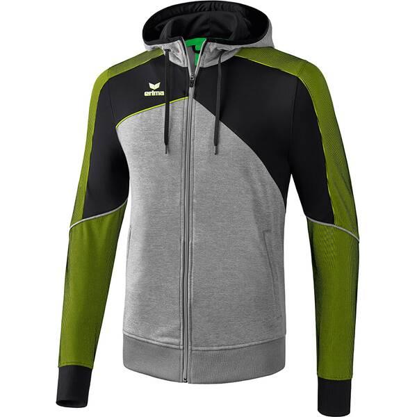 ERIMA Herren Premium One 2.0 Trainingsjacke mit Kapuze Grau