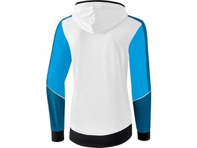 ERIMA Damen Premium One 2.0 Trainingsjacke mit Kapuze Weiß