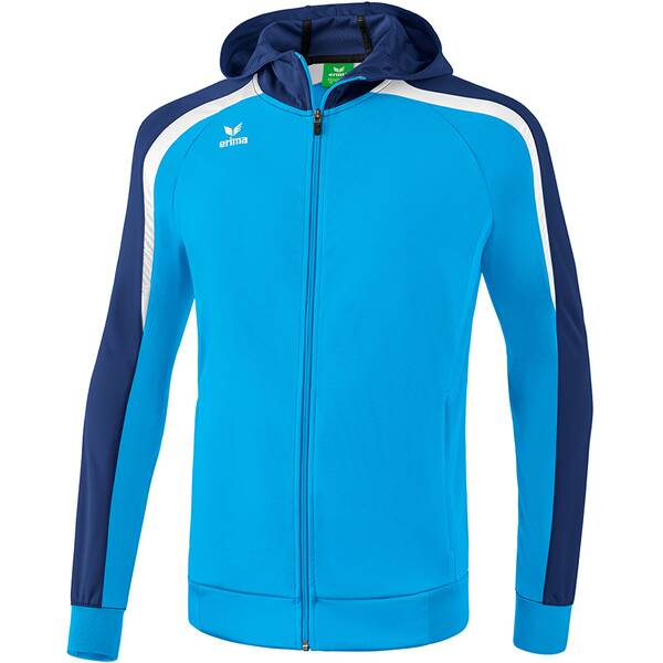 ERIMA Herren Liga 2.0 Trainingsjacke mit Kapuze Blau
