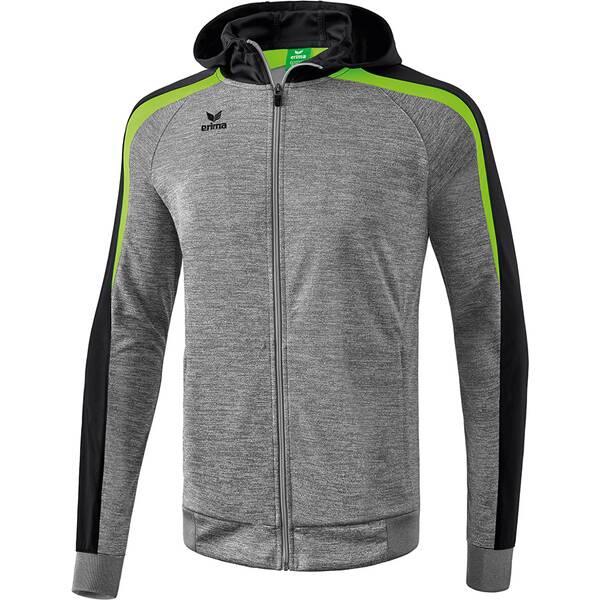 ERIMA Herren Liga 2.0 Trainingsjacke mit Kapuze Grau