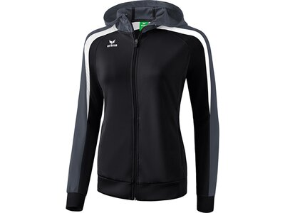 ERIMA Damen Liga 2.0 Trainingsjacke mit Kapuze Schwarz