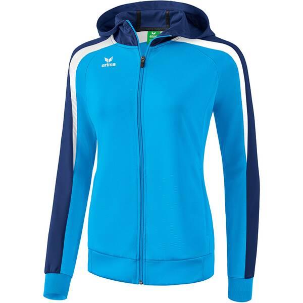 ERIMA Damen Liga 2.0 Trainingsjacke mit Kapuze Blau