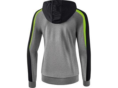 ERIMA Damen Liga 2.0 Trainingsjacke mit Kapuze Grau
