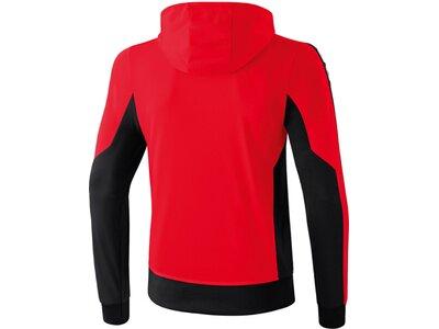 ERIMA Kinder CLASSIC 5-CUBES Trainingsjacke mit Kapuze Rot