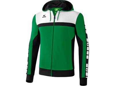 ERIMA Herren CLASSIC 5-CUBES Trainingsjacke mit Kapuze Grün